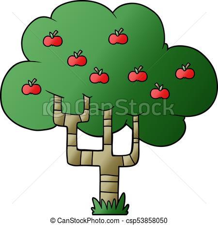 450x464 Cartoon Apple Tree Clipart Vector