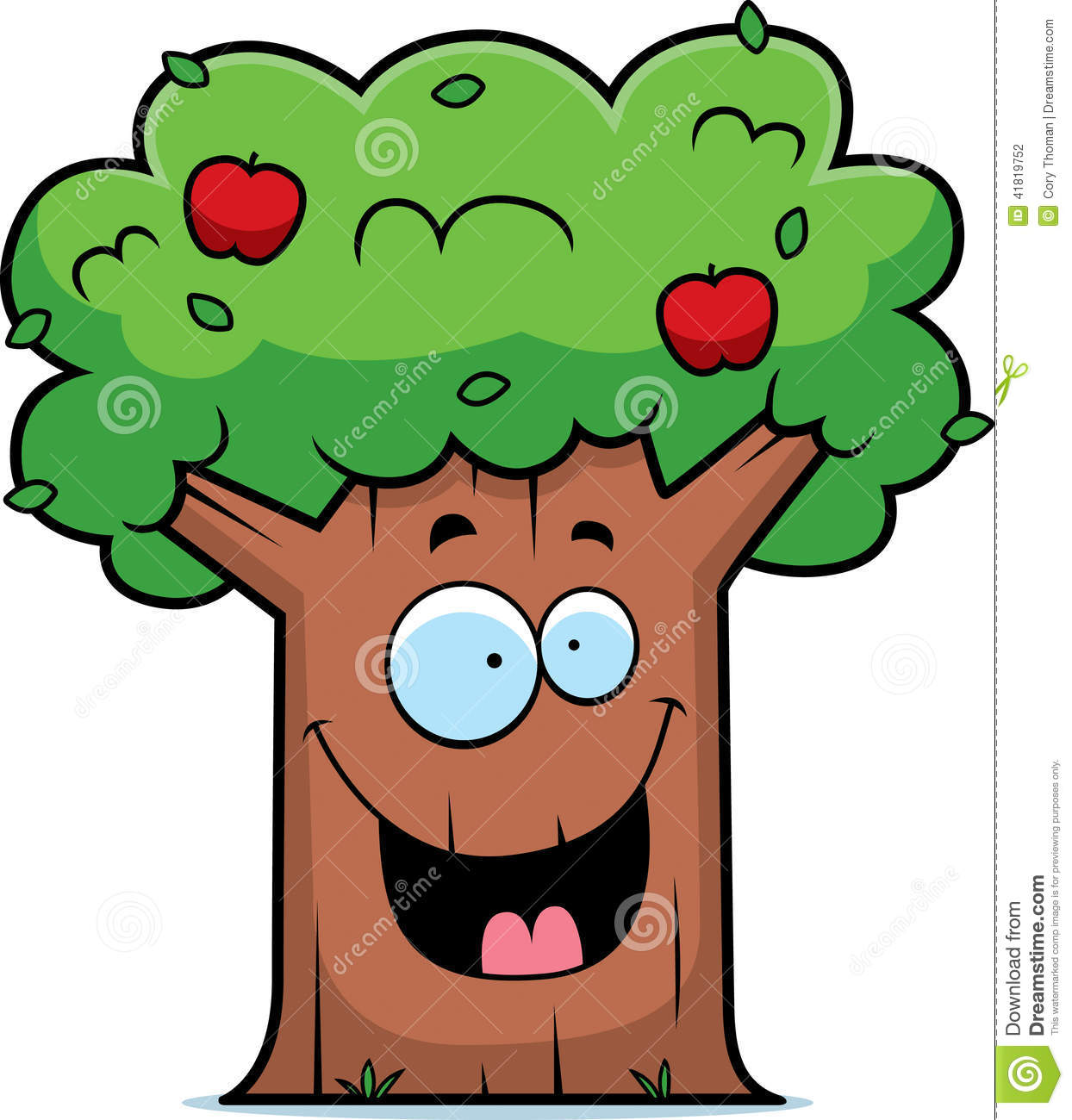1244x1300 Pictures Apple Tree Cartoon Image,