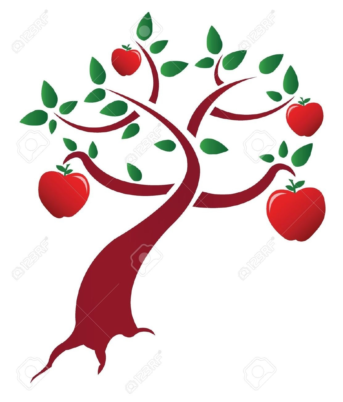 1112x1300 Top Of Apple Tree Branch Clipart
