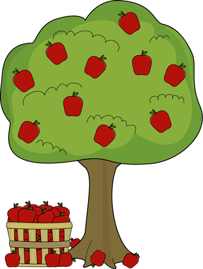 415x550 Apple Basket Clipart Apple Tree With Apple Basket Clip Art Apple