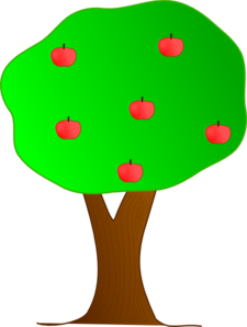 225x298 Apple Tree Clip Art