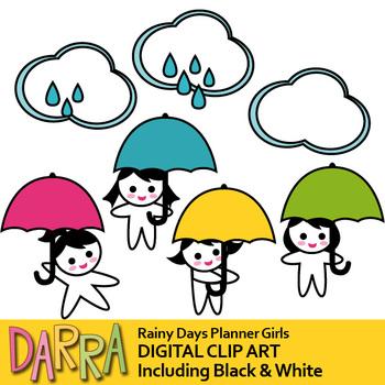 350x350 April Shower Clip Art Rainy Days, Cloud, Umbrella Girl, Weather