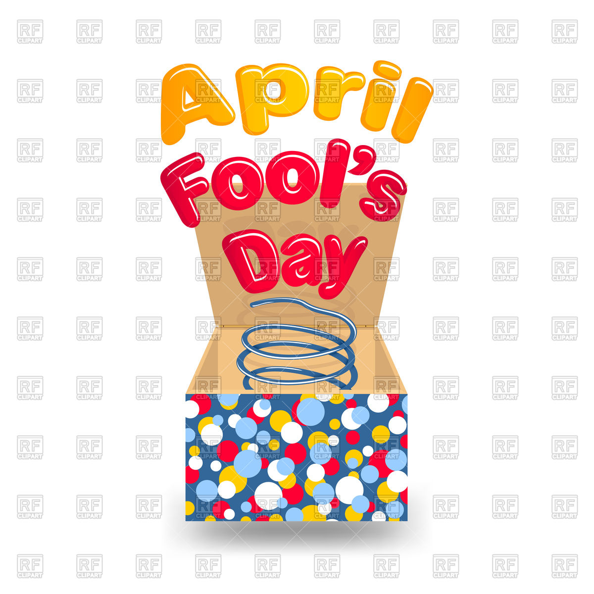 1200x1200 April Fool's Day Box Royalty Free Vector Clip Art Image