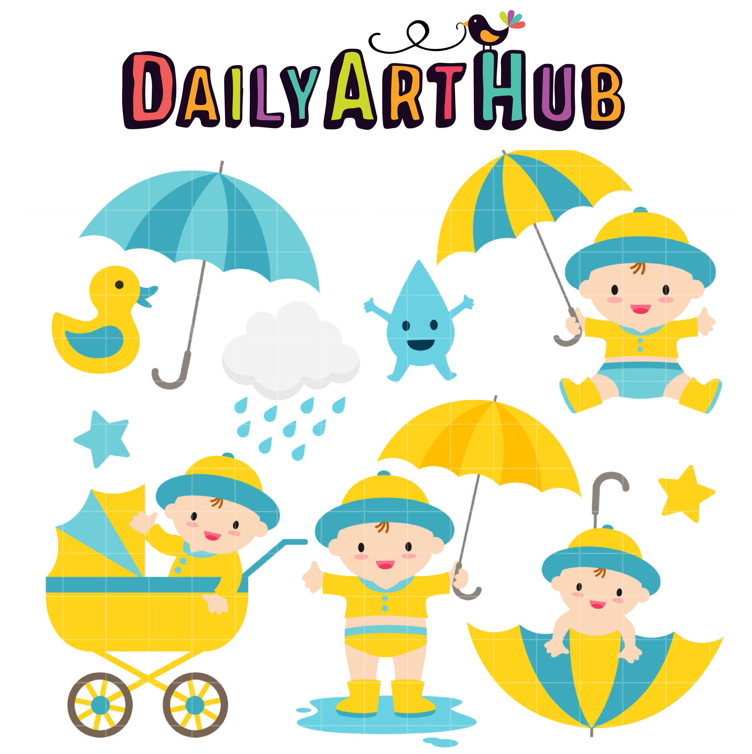 2497x2504 Baby Boy April Shower Clip Art Set Daily Art Hub Free Clip Art