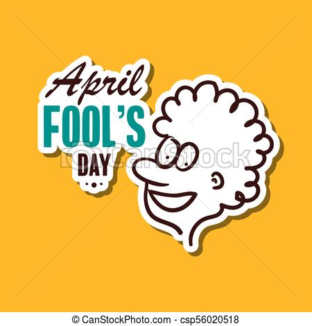 450x470 April Fools Day Sticker. April Fools Day. Funny Sticker