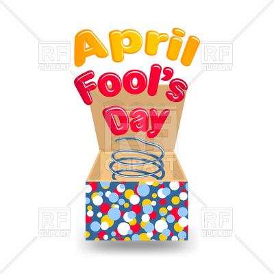 400x400 April Fool's Day Box Royalty Free Vector Clip Art Image