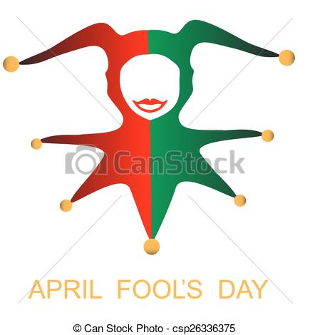 435x470 April Fools Day Card With Harlequin Vectors Illustration