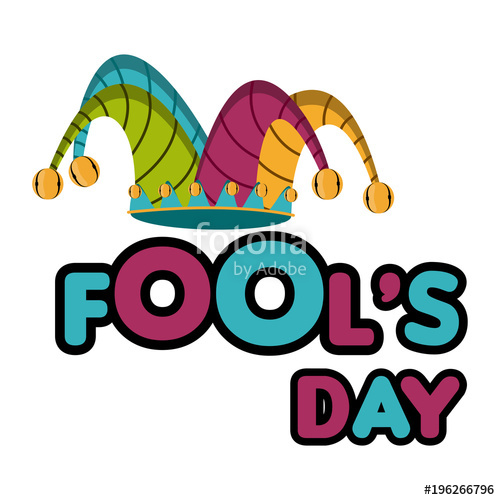 500x500 Harlequin Hat, April Fool Day. Stock Image And Royalty Free