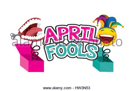 450x305 April Fools Day Chattering Teeth Pictogram Stock Vector Art