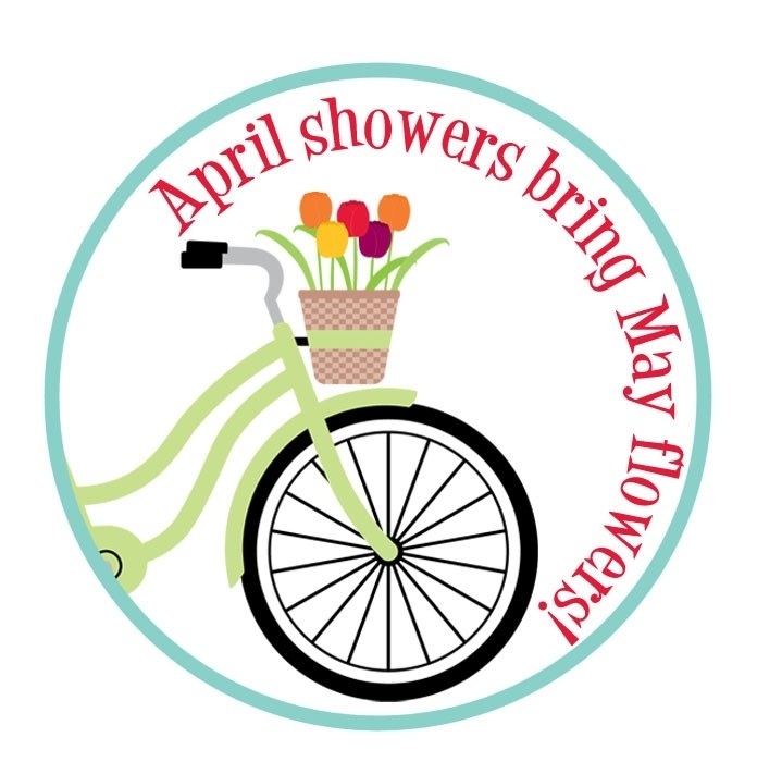 696x711 April Flowers Clipart Free April Flowers April Showers Bring May