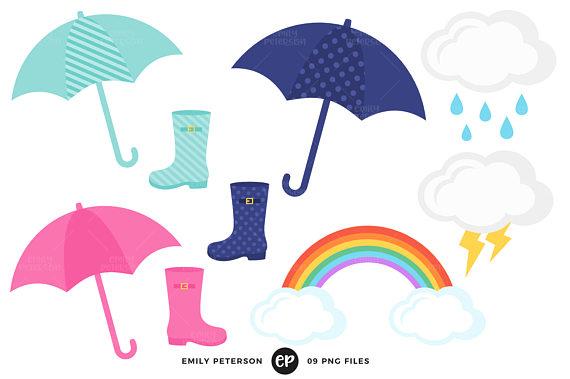 570x379 Rain Clip Art, Spring Clipart, April Showers Clip Art