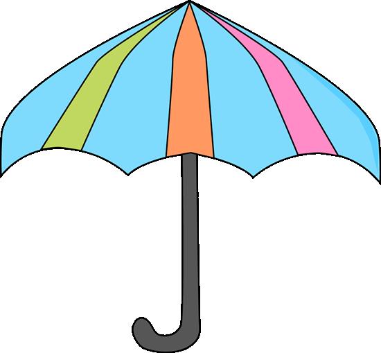 550x509 Colorful Umbrella Clipart
