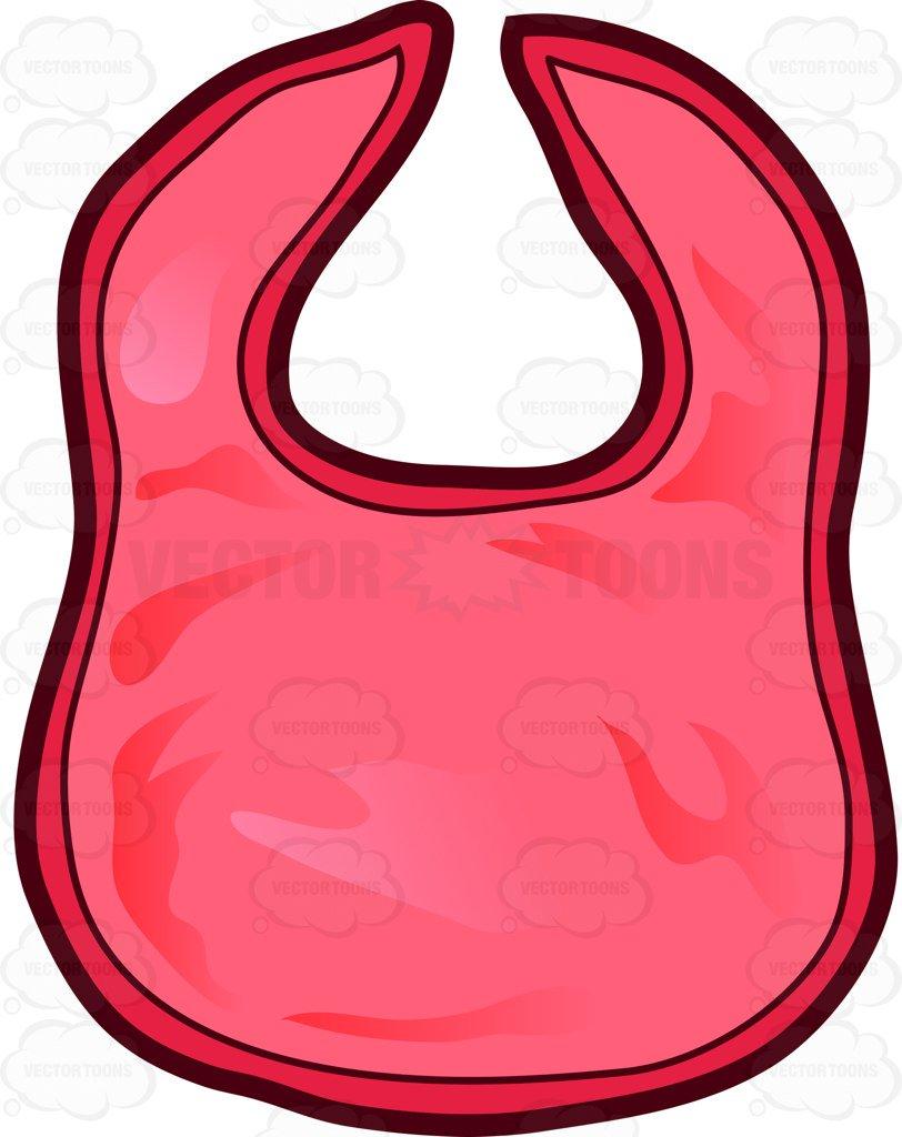 812x1024 A Red Cotton Bib Cartoon Clipart Vector Toons