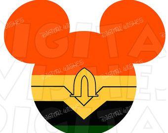 340x270 Aquaman Mickey Mouse Head Digital Iron On Transfer Clip Art