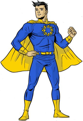 343x500 Superhero Body Template Clip Art