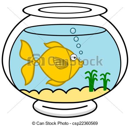 450x436 A Fish In Its Aquarium Clip Art Vector