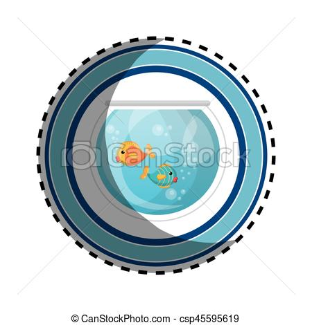450x470 Fish In Aquarium Pet Vector Illustration Design Vector Clip Art