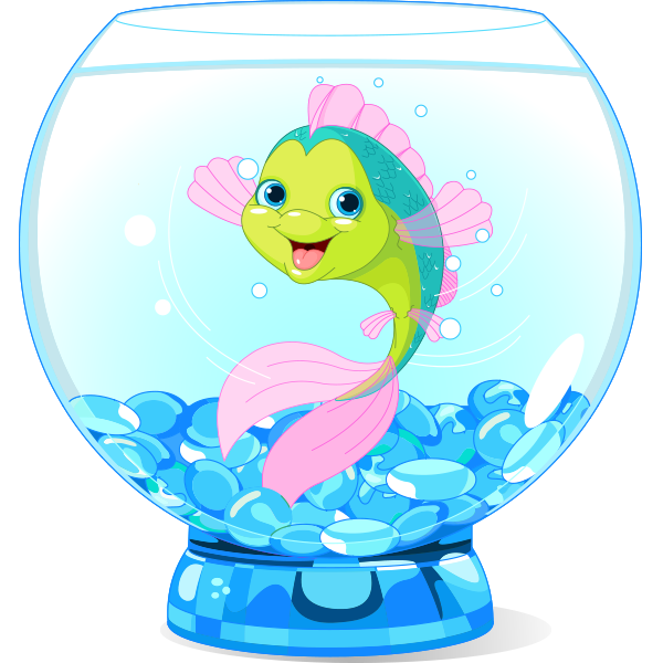 600x600 Happy Fish In A Bowl Bowls, Fish And Clip Art