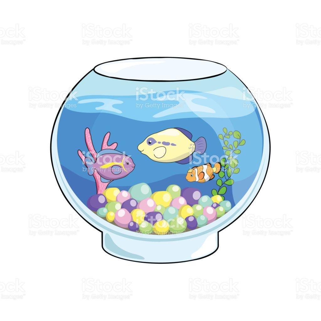 1024x1024 Fish Aquarium Clipart Fish Tank Cartoon Vector Illustration Cute
