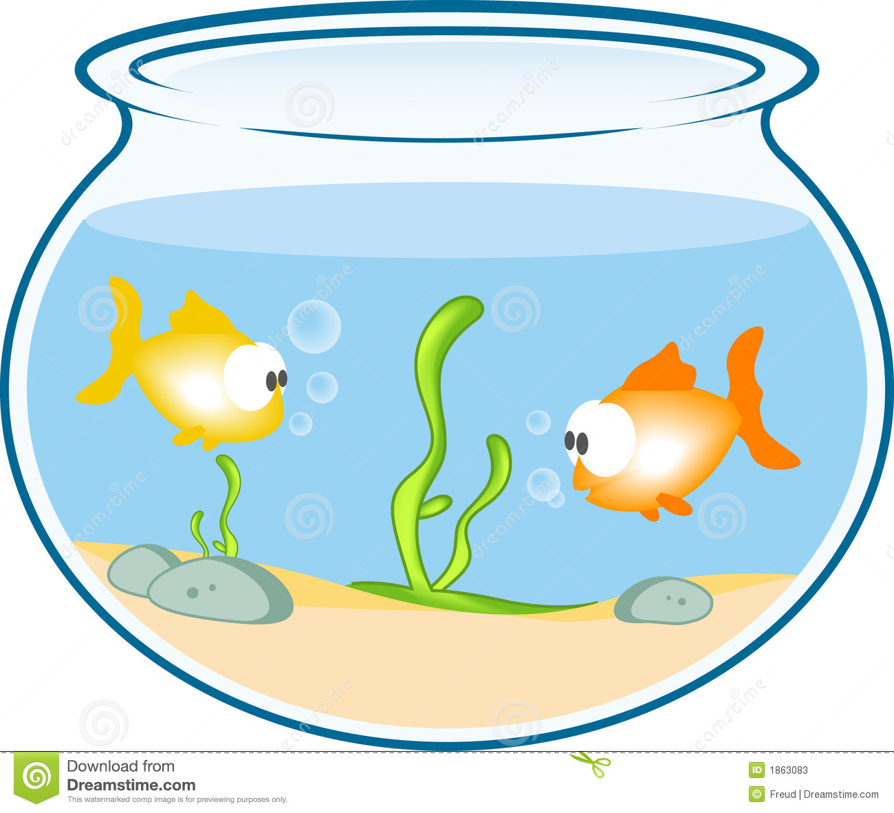 1300x1181 Fish Tank Clipart Coloring Page