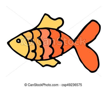 450x369 Vector Aquarium Fish Silhouette Illustration. Colorful Vectors