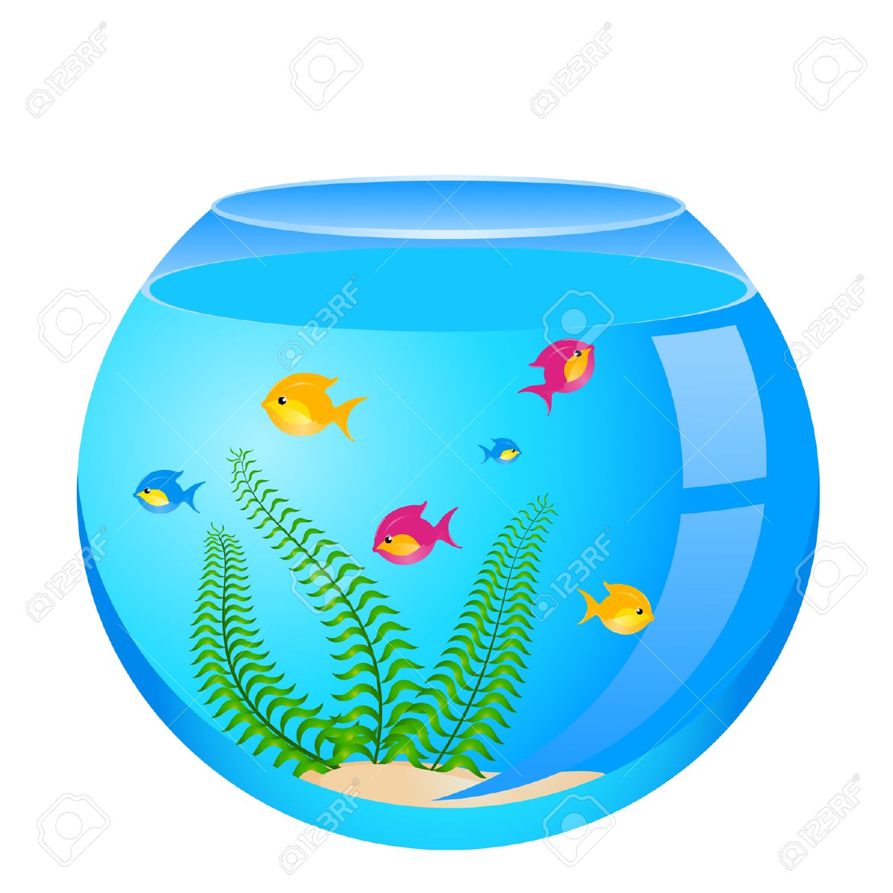 1300x1300 Collection Of Fish Bowl With Fish Clipart High Quality, Free