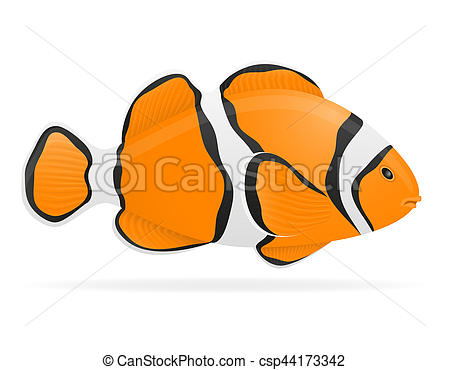 450x370 Aquarium Fish Illustration Isolated On White Background Drawing