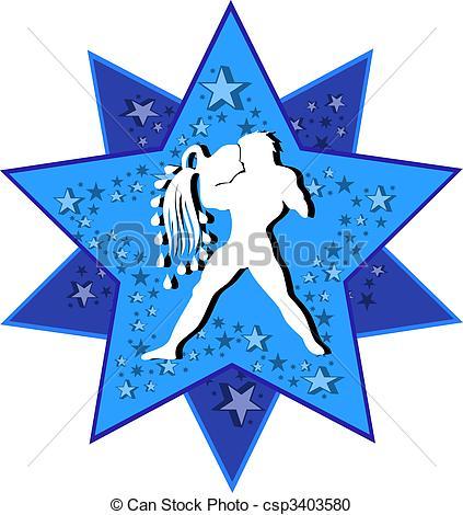 423x470 Zodiac Sign Aquarius Stock Illustration