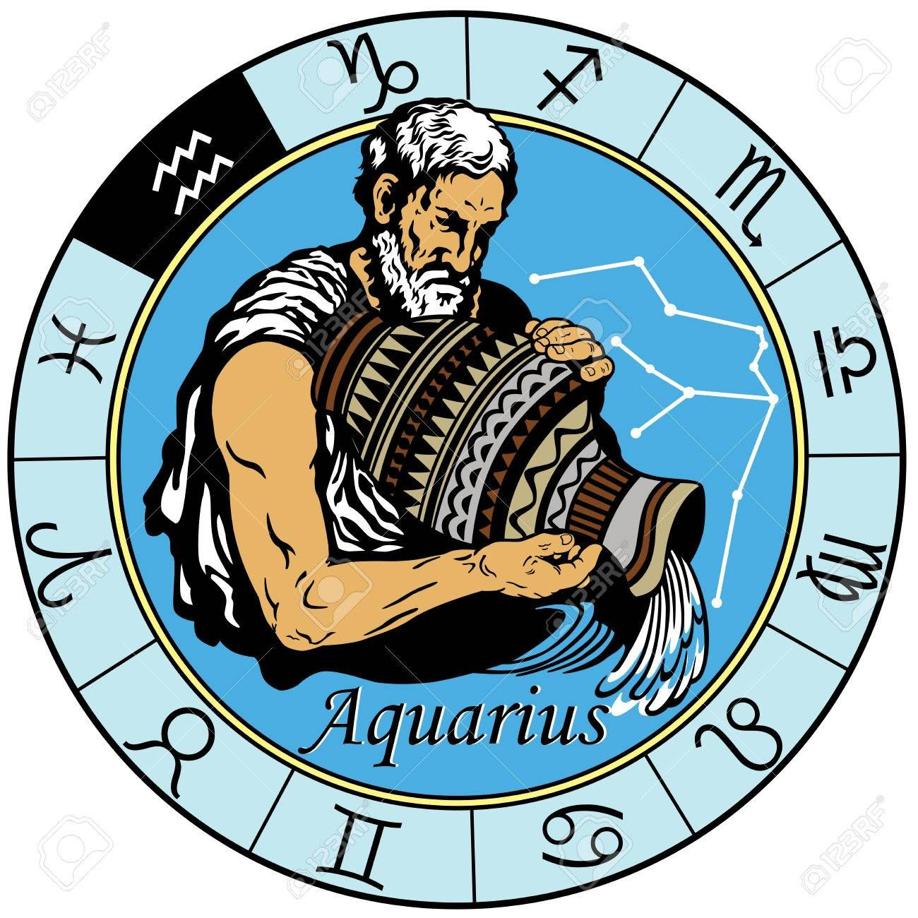 1300x1300 Aquarius Astrological Horoscope Sign In The Zodiac Wheel Signs