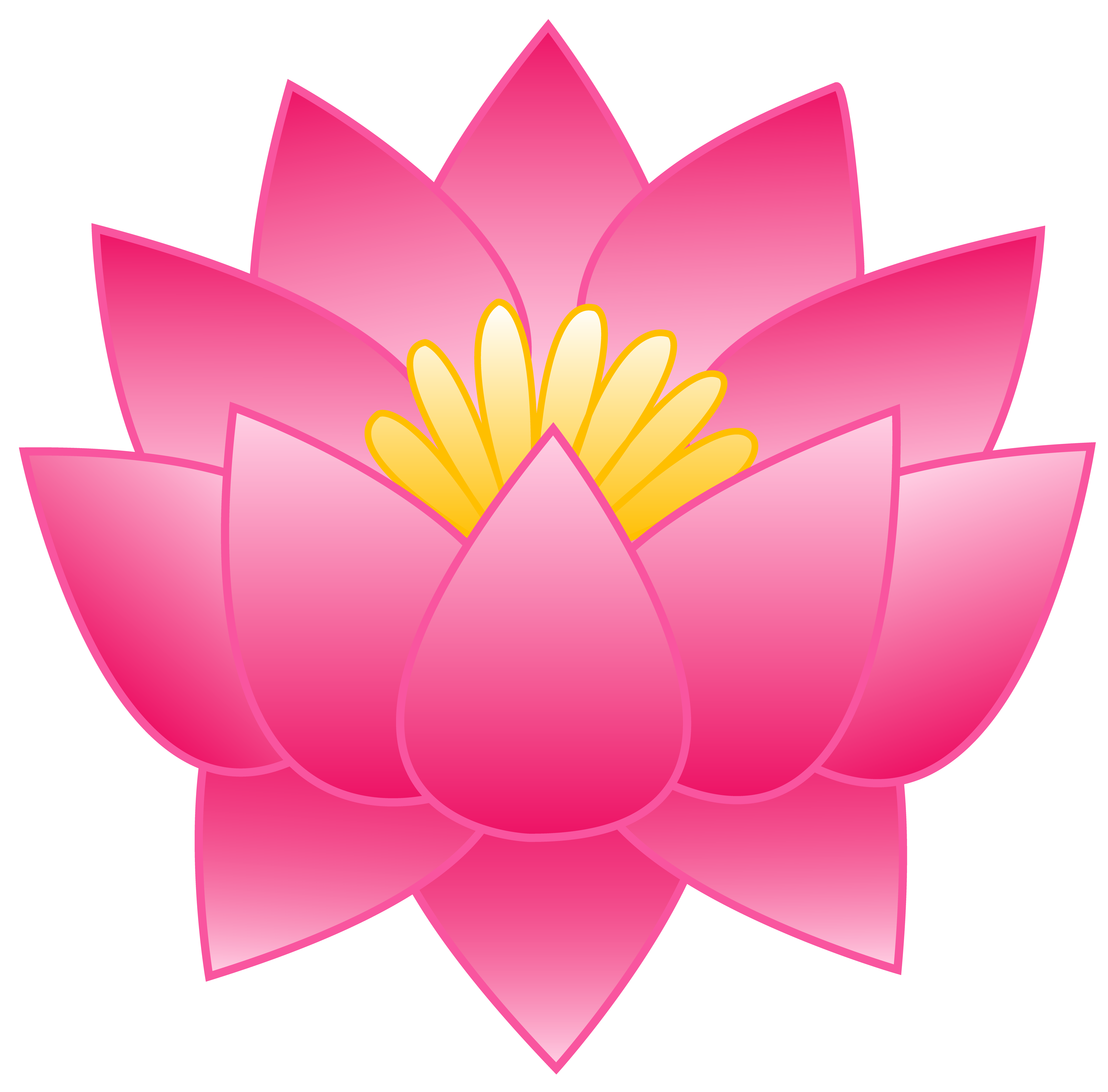 5584x5505 Pink Lotus Flower Free Clip Art Clipart