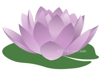 340x270 Aquatic Purple Lily Clipart