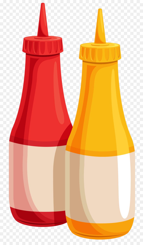 900x1540 H. J. Heinz Company Ketchup Mustard Bottle Clip Art