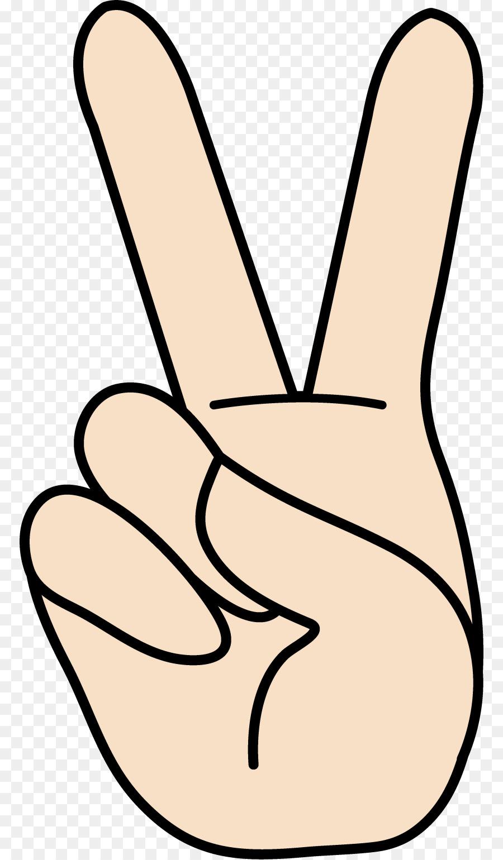 900x1540 Peace Symbols V Sign Gesture Sign Language Clip Art