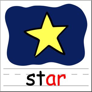 304x304 Clip Art Basic Words Ar Phonics Star Color I