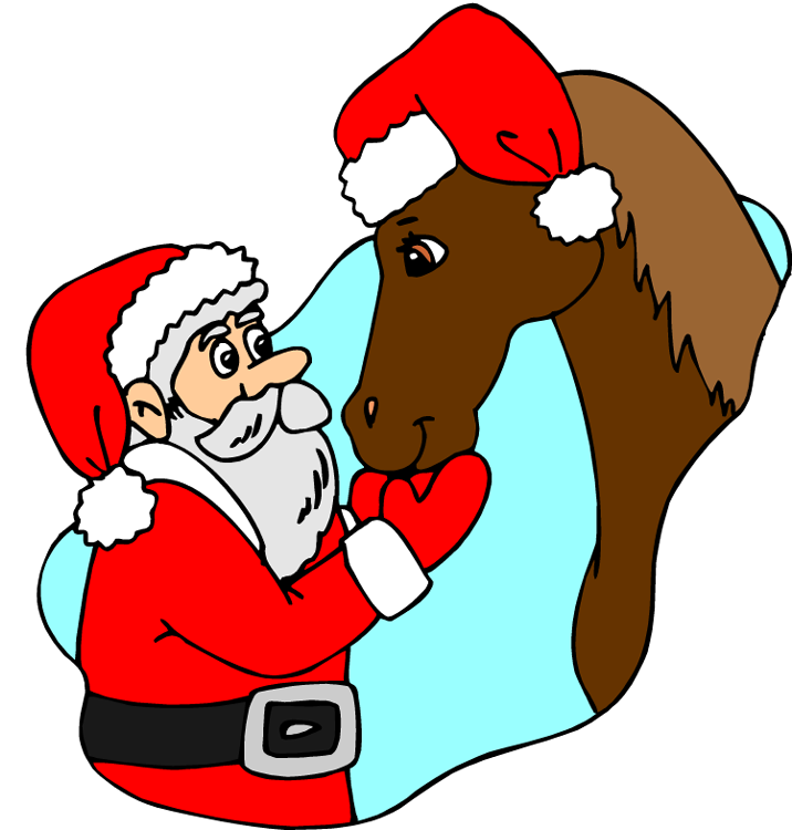 716x750 Holiday Horse Clipart