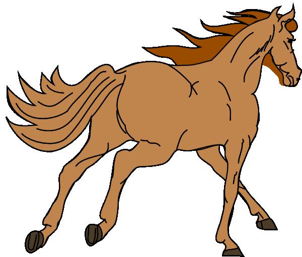 600x511 Tan Horse Clip Art