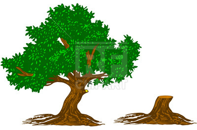 400x265 Tree And Stump Free Download Vector Clip Art Image