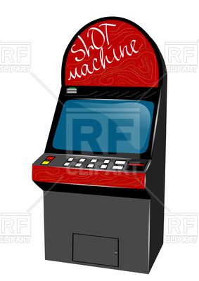 283x400 Retro Game Playing Machine Royalty Free Vector Clip Art Image