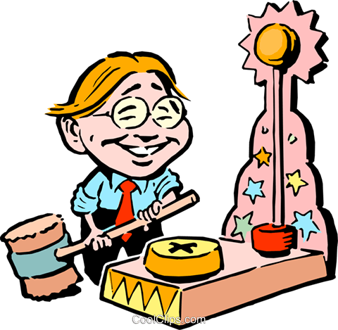 480x469 Cartoon Boy Ready To Ring The Bell Royalty Free Vector Clip Art