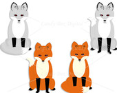 170x135 Items Similar To Fox And Arctic Fox Clipart, Hipster Animal Clip