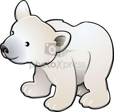 400x390 Polar Bear Clip Art Clip Art Polar Bear Clip Art Stock Vector