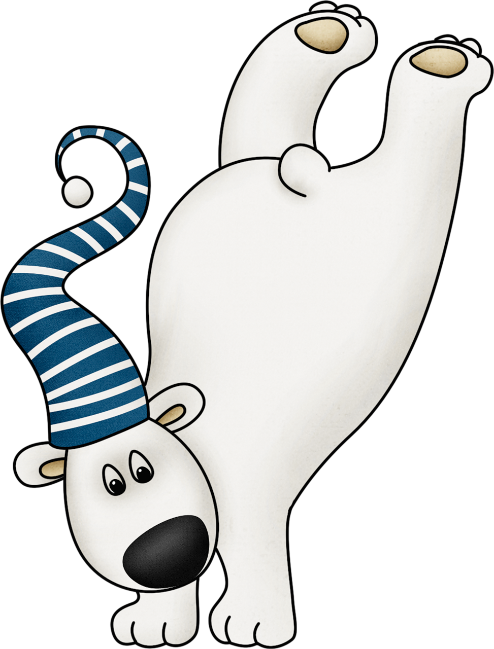 973x1280 Cute Winter Polar Bear Clip Art Clip Art (Christmas)