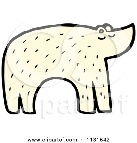 450x470 Cartoon Of An Arctic Polar Bear