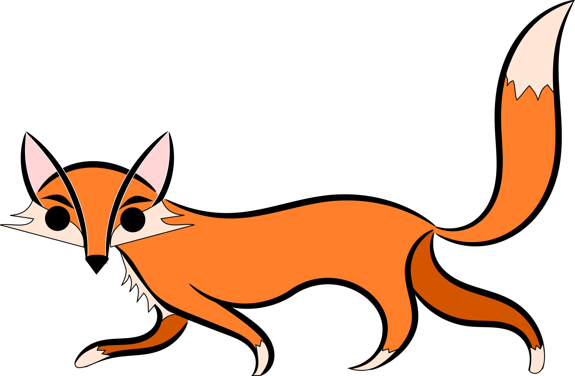 2000x1309 Clip Art Clip Art Of A Fox