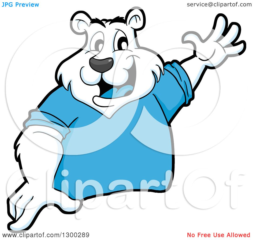 1080x1024 Clipart Of A Cartoon Polar Bear Mascot Presenting