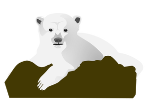 300x225 21811 Polar Bear Clip Art Black White Public Domain Vectors