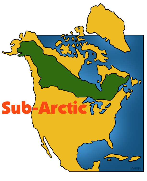 612x756 Native Americans Clip Art By Phillip Martin, Sub Arctic Map