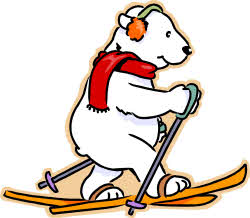 250x218 Skiing Clipart Polar Bear
