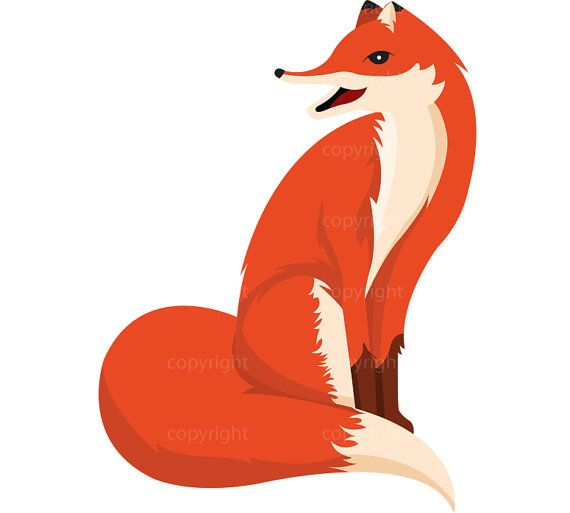 570x513 Woodland Fox Clipart Forest Friends Digital Download Art Fox