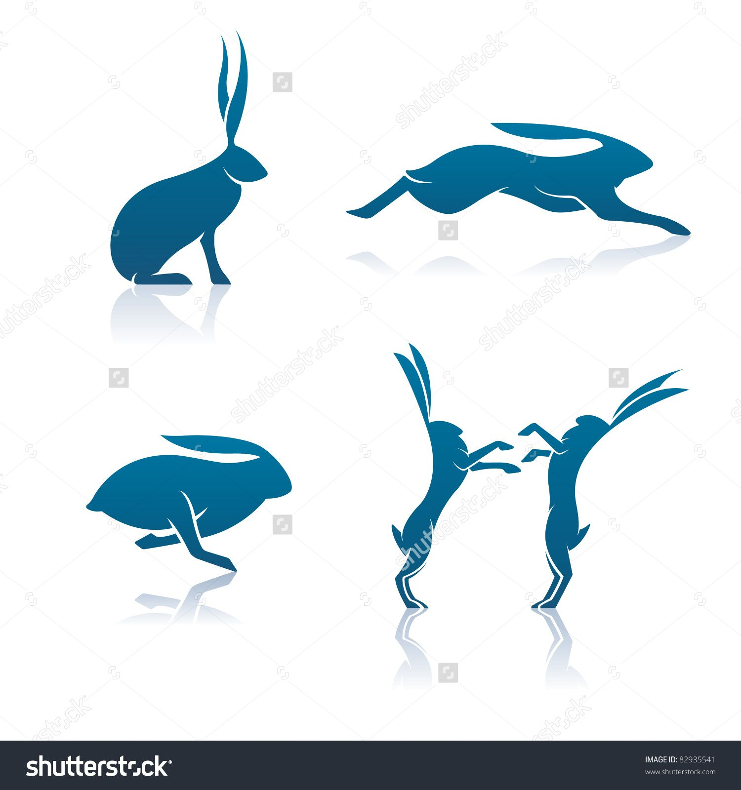 1500x1600 Hare Stock Vectors Amp Vector Clip Art Shutterstock Hare